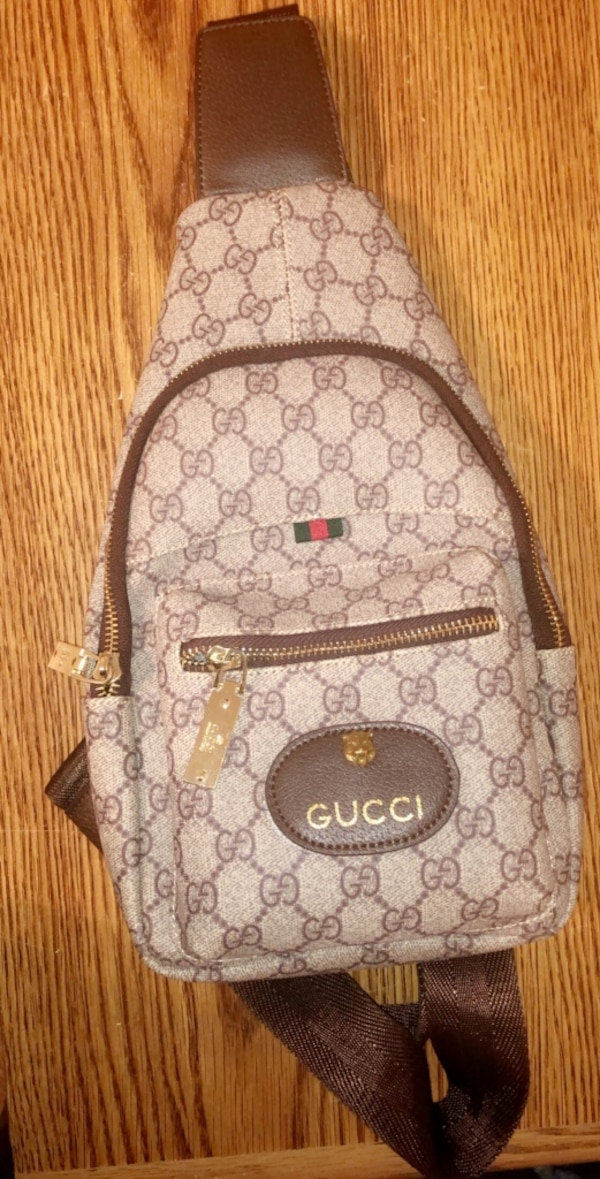 5dfc55efbcd Used brown and black Gucci monogram backpack for sale in Atlanta - letgo