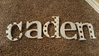 Letters for the name Caden for child's room Moore, 73160