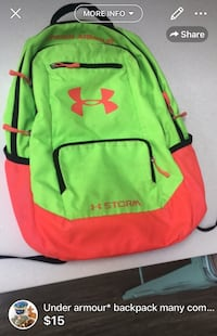 Under armour* backpack many compartments used but loved lots of life left London, N5W 6E3