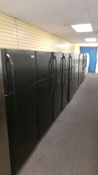 Black top and bottom refrigerators in excellent co Randallstown