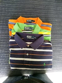 three assorted-color stripe Polo by Ralph Lauren P