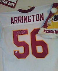 white and maroon Arrington 56 sport jersey