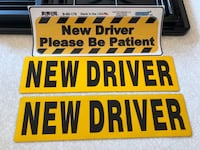 "New, never used ""New Driver"" magnets (2) /bumper sticker Leesburg, 20175"