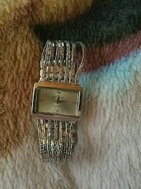 square silver analog watch with silver link bracelet Santa Rosa, 95405