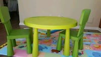 Ikea kids table with 2 chairs  Surrey, V4N 0Z7