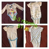 baby's assorted-color clothes lot collage 53 mi