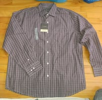 New with tags plaid button up dress shirt