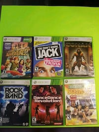 six assorted Xbox 360 game cases St. Albert, T8N 1L1