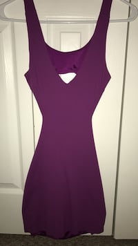 Purple sleeveless cutout Bebe mini dress Miami
