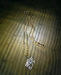 10 k gold chain with real pendent