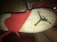 red and white Air Jordan shoe sole New York, 10460