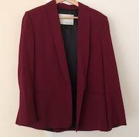 Zara Burgundy Blazer Washington, 20036