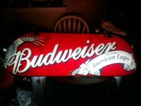 red and white Budweiser neon signage Harlingen, 78550