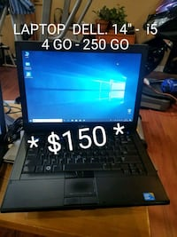 "LAPTOP DELL 14"" - i5 - 4 GO- 250 GO + +  Laval, H7T 2E6"