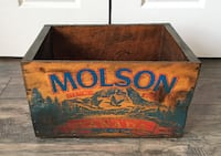 Rustic Wooden Molson Delivery Box