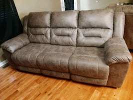 Recliner couch and loveseat