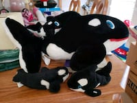 black and white whale plush toys, large on its bac Frederick, 21702