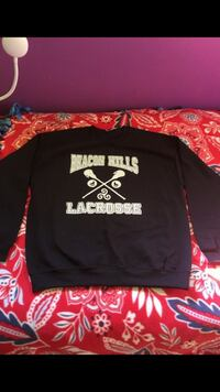 Black and white Lacrosse pullover hoodie