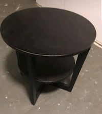 round black wooden side table Seattle, 98103