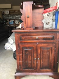 brown wooden cabinet with drawer Coquitlam, V3B 4T6