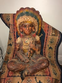 Wooden indian chief