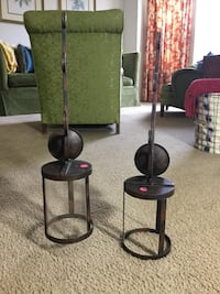 Two black metal candle holders Mount Holly, 28120