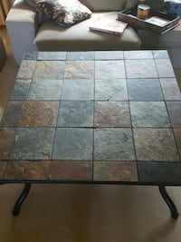 gray brown and black marble top square center table Bloomington, 55437