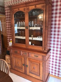 brown wooden framed glass display cabinet Thurmont, 21788