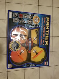black and orange Panther Spy Drone UFO