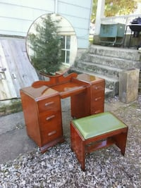 beautiful antique vanity,  mirror and stool Westminster, 21157