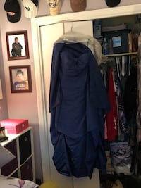 Blue indigo gown sweetheart cut with shawl New Windsor, 12553