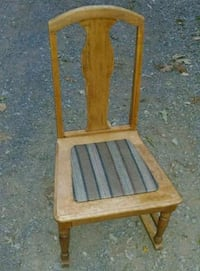 Small brown wooden framed padded rocking  chair Bunker Hill, 25413