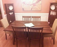 brown wooden dining table set Greensboro, 27410