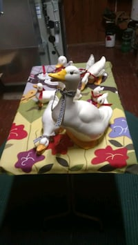 Ceramic Ducks and a few geese hand painted