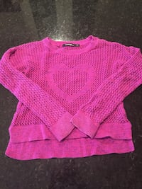 Girls George magneta cotton sweater size small Whitby, L1P 1C9
