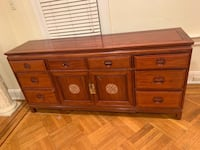 Antique chinese Desk  and Credenza