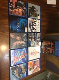 Assortments of movies on BluRay