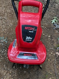 Cultivator battery operated, 20 volt lithium battery. Works great only used a couple of times.  55 km