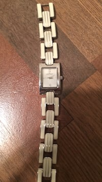 Rectangular silver-colored analog watch with link bracelet Bowie, 20720