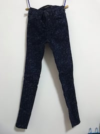 Floral Navy Jeans / Jeggings New York