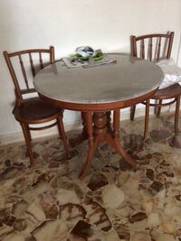 3ft, marble table with two chairs Hougang, 533901