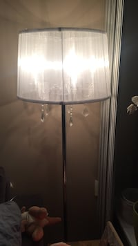 Crystal Stainless steel base with white shade floor lamp Toronto, M2K 3B8