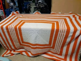 Hand knitted quilt