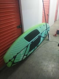green and black kayak with paddle Santa Cruz, 95062