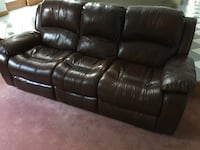 double reclining leather sofa, exc condition. 1 or 2 available. Purch new from Raymour & Flanagan   Andover, 06232