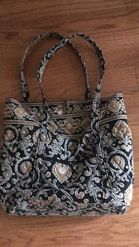 women's black and white floral tote bag Rockville, 20850