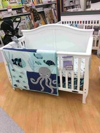 BNIB Camden Convertible White Crib & mattress Edmonton, T5G 2N7