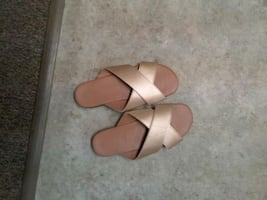 slip on  sandals. size 8