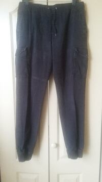 Men's Black Joggers by Amplify | Size: Large | Washed and Ironed San Antonio