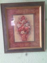 red and pink floral artwork Porterville, 93257